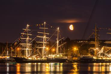Riga harbour by night