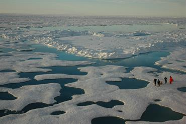 Arctic ice, sea vista