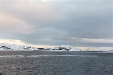 Barents Sea with snowy peaks